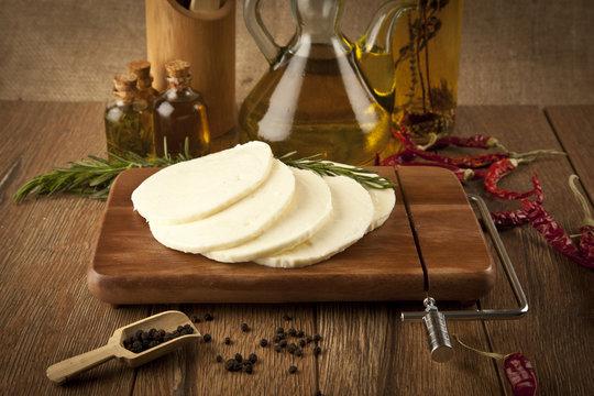 Halloumi Burger Cheese concept photo