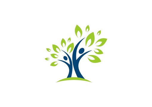 people,tree,leaf,ecology,nature,logo,wellness,healthy,life