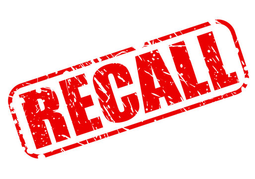 Recall red stamp text