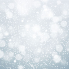 Christmas snowflakes background vector blue light abstract