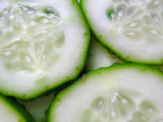 Cucumber Slice Background