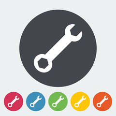 Wrench single icon.