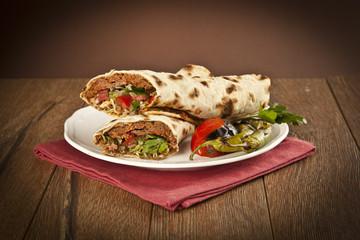 Doner Adana Kebab with Lahmacun