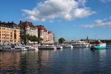 Stockholm Nybroviken -Strandvägen with art nouveau Houses