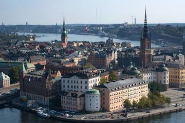 Altstadt Stockholm-Blick vom Rathaus
