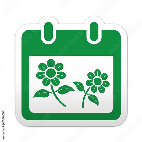 Simbolo De Calendario.Pegatina Simbolo Calendario Primavera Stock Photo And