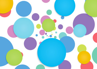 Abstract colorful circle background 2