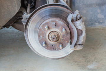Defective brake disc