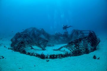 Biorocks in Gili, Lombok, Nusa Tenggara Barat underwater