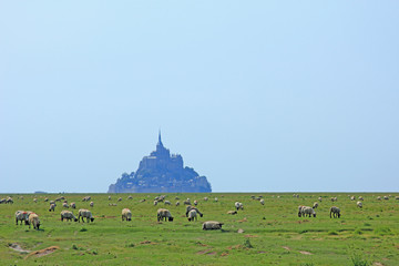 Deurstickers Mont Saint Michel Frankreich