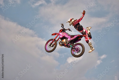 Wall mural Freestyle Motocross