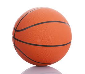 Basketball ball on white background