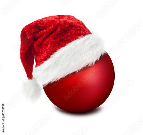 weihnachtsm tze auf weihnachtskugel stockfotos und lizenzfreie bilder auf bild. Black Bedroom Furniture Sets. Home Design Ideas