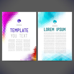 Abstract vector template design, brochure, Web site