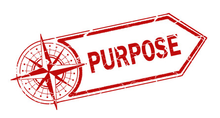 purpose  stamp on white background Wall mural