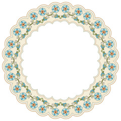 circular floral background one