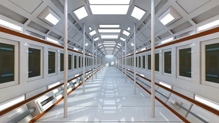 Futuristic SCIFI interior