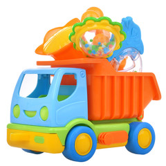 Color toy car truck with rattles