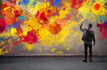 In de dag Graffiti Colours