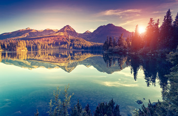 Wall Mural - lake in the mountains
