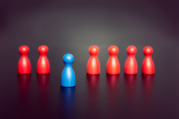 Stand out and be unique - leadership business concept with game