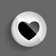 Heart Glossy Icon Vector Illustration