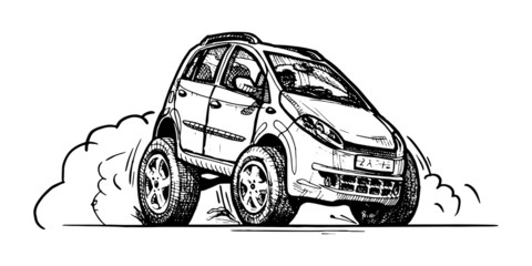 car in comics style