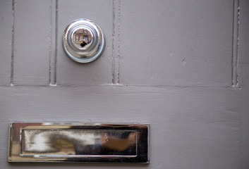 door knob and letter box.