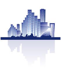 Building landscape background