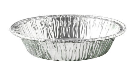 Round Aluminium Foil Food Tray isolated on white background