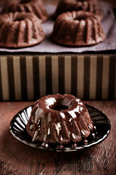 Chocolate mini bundt cake
