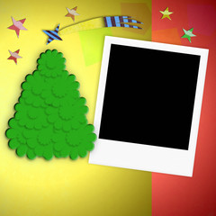 Christmas background blank photo frame