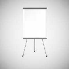 Blank flipchart or advertising stand.