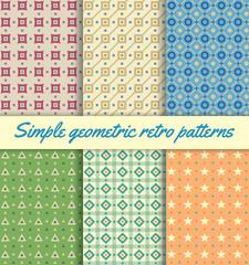 Simple Geometric Retro Patterns