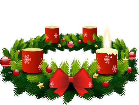 advent wreath 1st candle