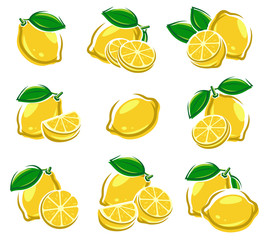 Lemon set. Vector