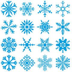 Blue Snowflakes 1