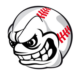 Baseball cartoon ball