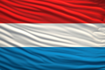 Waving Luxembourg Flag