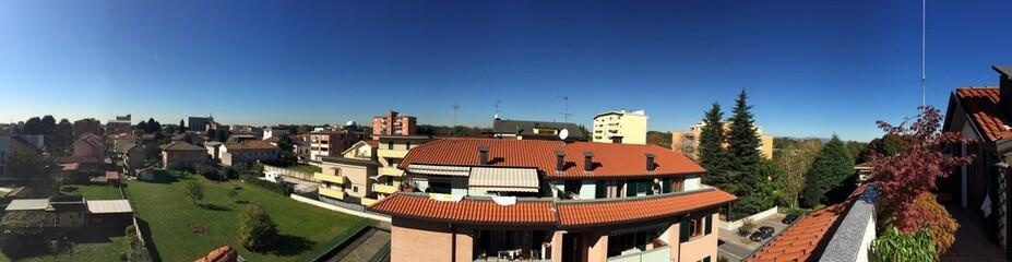 Limbiate, panoramica terrazze case comune vista