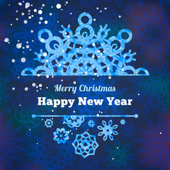 Vector snowflakes for Christmas and New Year's design.