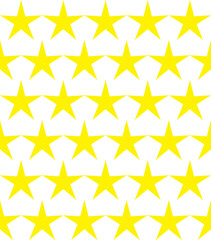 Seamless pattern of yellow stars
