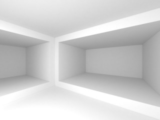 Abstract 3d interior background with rectangle frames