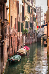 Sunrise over a canal in Venice