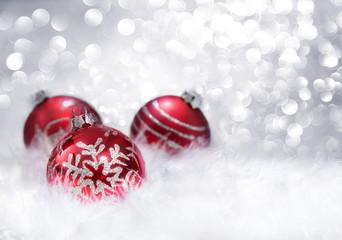 Fotomurales - balls red xmas decoration