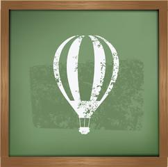 Balloon design on blackboard background,vector