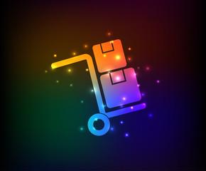 Shipping symbol,rainbow vector