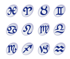 Horoscope signs and symbols