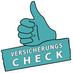 tus230 ThumbUpSign tus-v38 - Versicherungscheck - türkis g2330