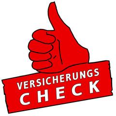 tus232 ThumbUpSign tus-v38 - Versicherungscheck - rot g2332